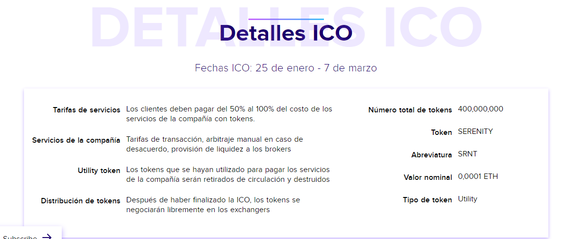 Serenity coin ico